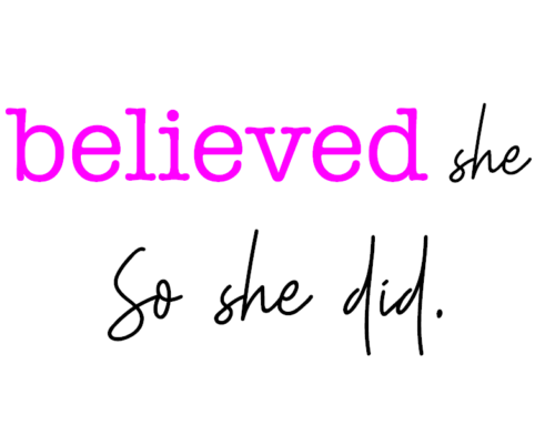 How Believing in Ourselves Leads to Our Success